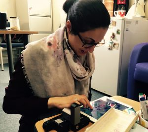 ioLight portable microscope used in cancer research